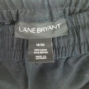 Lane Bryant Pants - LANE BRYANT Linen Blend Wide Leg Pants Black 18/20
